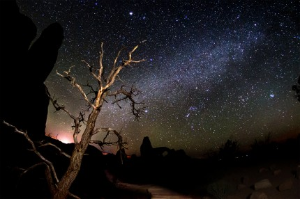 milky way at arches national