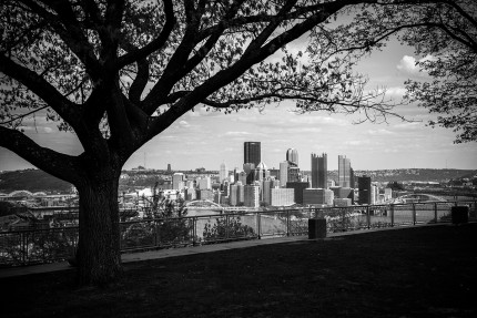 view of pittsburgh from west end overlook