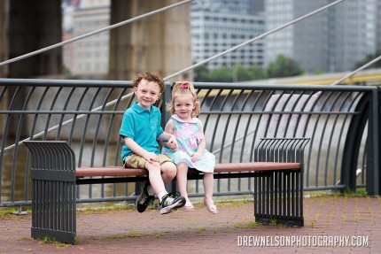 children photo on bench